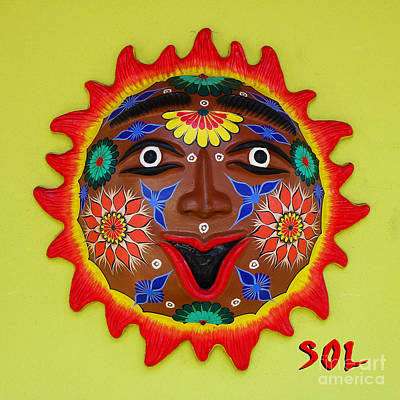 Happy Sol Face Poster by Xueling Zou