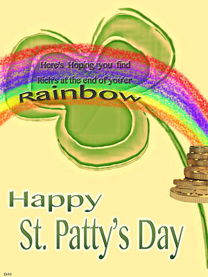 Happy St.patty's Day Rainbow Poster