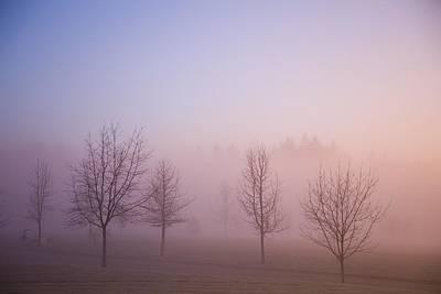 Happy Valley, Oregon, Usa Foggy Sunrise Poster