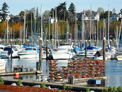 Harbor At Bellingham Poster