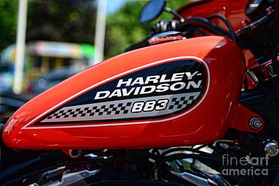 Harley Davidson  883 Gas Tank Poster