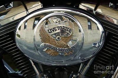 Harley Davidson Bike - Chrome Parts 44c Poster by Aimelle
