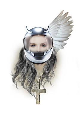 Harley Davidson Woman Poster by Mark Ashkenazi