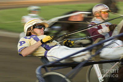 Harness Racing 1 Poster by Bob Christopher