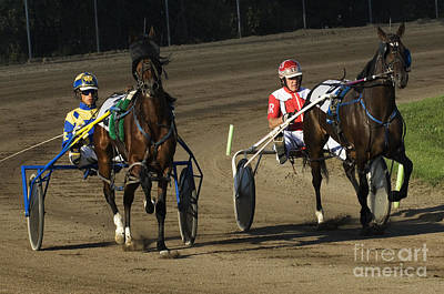 Harness Racing 10 Poster by Bob Christopher