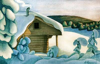 Harold Price Cabin Poster by Anne Havard