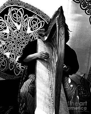 Harp Player Poster by Danuta Bennett
