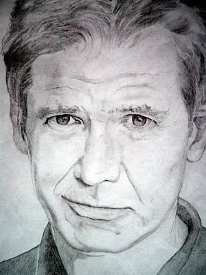 Harrison Ford - Medium Poster by Robert Lance