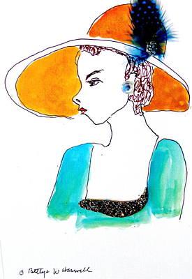 Hat Lady 15 Poster by Bettye  Harwell