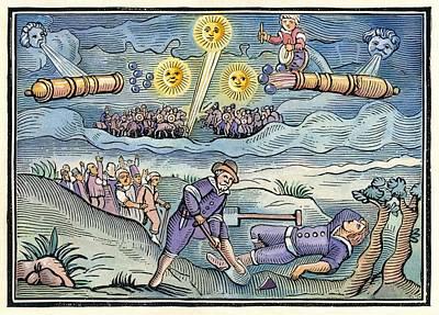 Hatford Meteor Fall, 1628 Poster by Detlev Van Ravenswaay