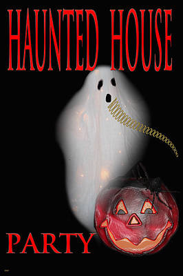 Haunted House Party Poster by Debra     Vatalaro