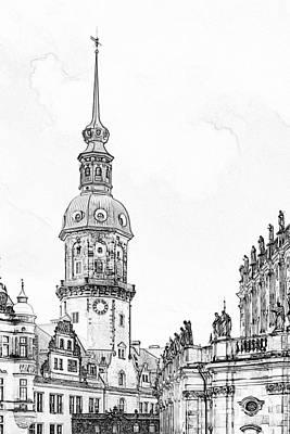 Hausmannsturm In Dresden Germany Poster by Christine Till