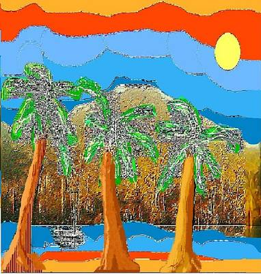 Poster featuring the digital art Havana Sunset by Rc Rcd