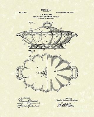 Haviland Dish Design 1900 Patent Art Poster by Prior Art Design