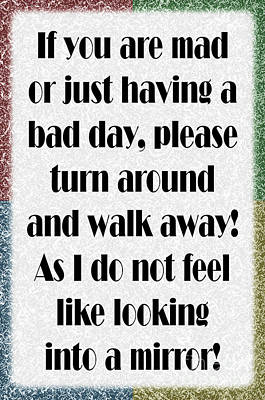 Having A Bad Day Poster by Andee Design