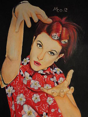 Hayley Williams Portrait Poster by Michael Co