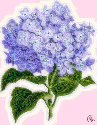 Hazy Hydrangea Poster by Mary M Collins
