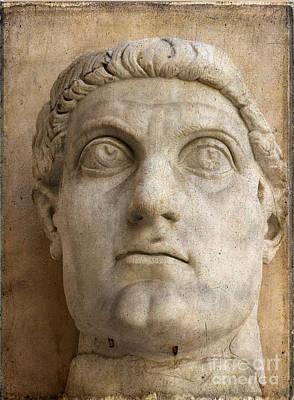 Head Of Emperor Constantine. Rome. Italy Poster