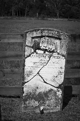 Headstone Of Lafayette Meeks Poster by Teresa Mucha