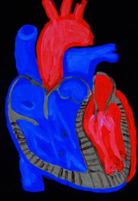 Heart A Glow Poster by Lisa Brandel