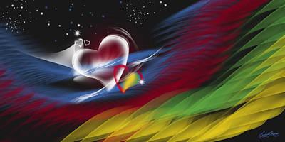 Heart Beat Poster by Satish Verma