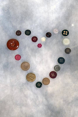 Heart Of Buttons Poster