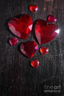 Heart Stones Poster by Carlos Caetano