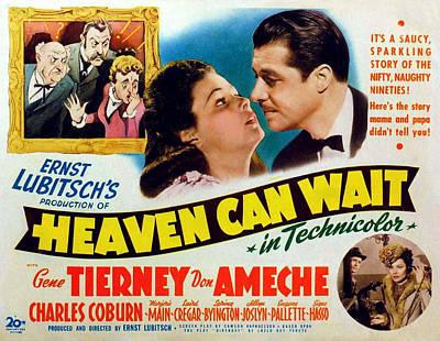 Heaven Can Wait, Gene Tierney, Don Poster by Everett