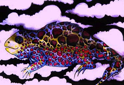 Heavenly Lizard Poster by Dede Shamel Davalos