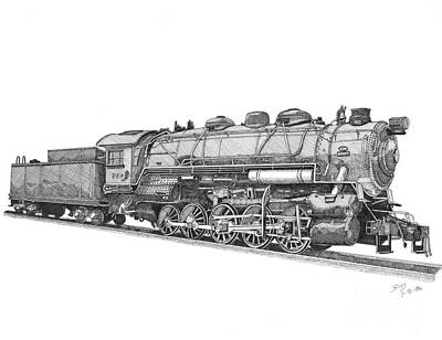 Heavy Steam Switcher 0-10-0 Poster by Calvert Koerber