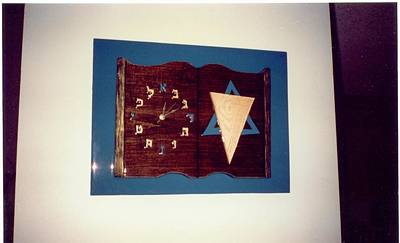 Hebrew Book Clock Poster by Val Oconnor
