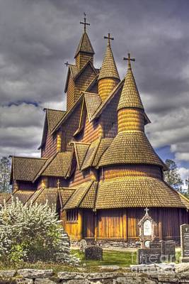 Heddal Stave Church  Poster by Heiko Koehrer-Wagner