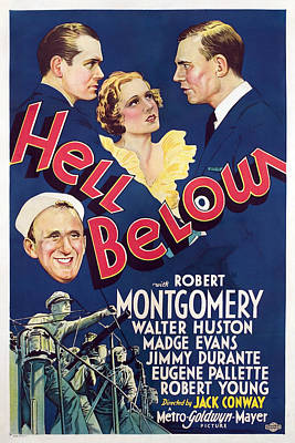 Hell Below, Robert Montgomery, Madge Poster by Everett