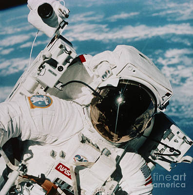 Helmet Of Astronaut Mccandless Poster