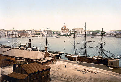 Helsinki Finland - Russian Cathedral And Harbor Poster by International Images
