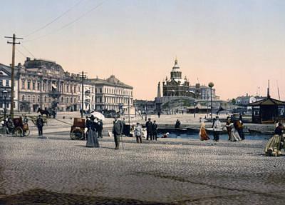 Helsinki Finland - Senate Square Poster by Bode Stevenson