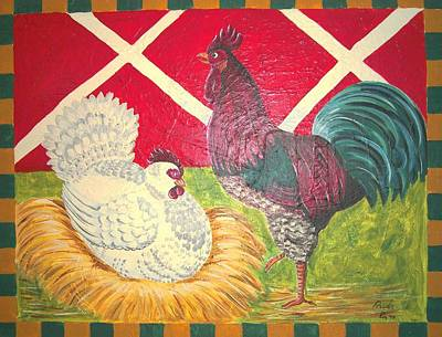 Hen House Poster by Paula Greenlee