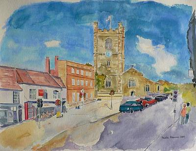Poster featuring the painting Henley On Thames by Geeta Biswas