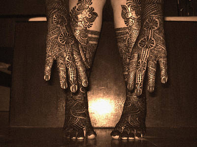 Henna Art On An Indian Bride Poster