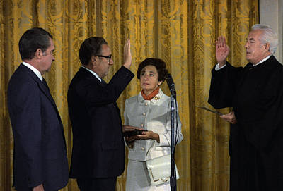 Henry Kissinger Being Sworn Poster by Everett