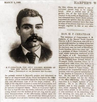 Henry Plummer Cheatham 1857-1935 Poster by Everett