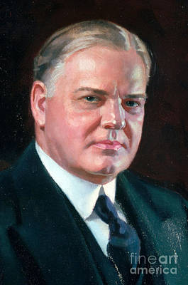 Herbert Hoover, 31st American President Poster by Photo Researchers