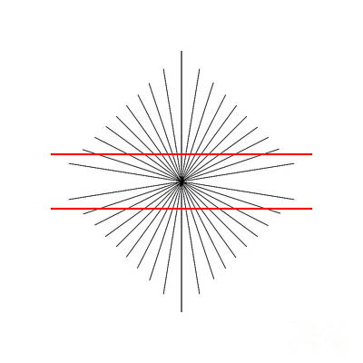 Hering Illusion Poster by SPL and Photo Researchers