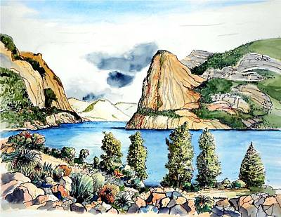 Poster featuring the painting Hetch Hetchy by Terry Banderas