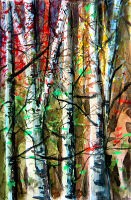 Hiding In The Forest Poster by Mindy Newman