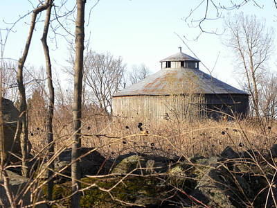 Higginson Round Barn Poster by Peggy  McDonald