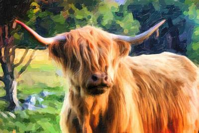 Highland Bull Poster by Dave Nielsen