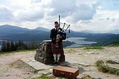 Highland Piper Poster by Kevin Askew
