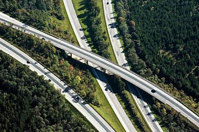 Highway Bridge Poster by Daniel Reiter