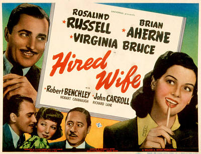 Hired Wife, Brian Aherne, Virginia Poster by Everett